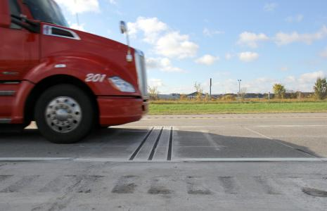 The VectorSense tire sensor suite from International Road Dynamics (IRD)
