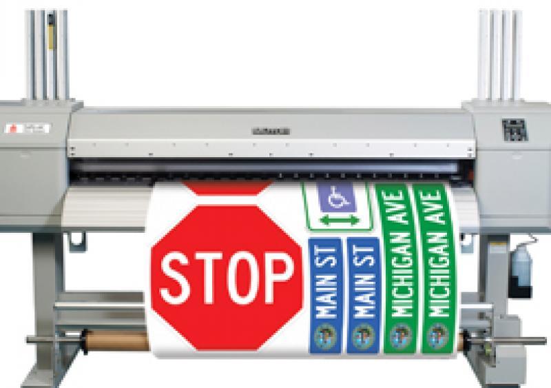The Avery Dennison TrafficJet inkjet printing system