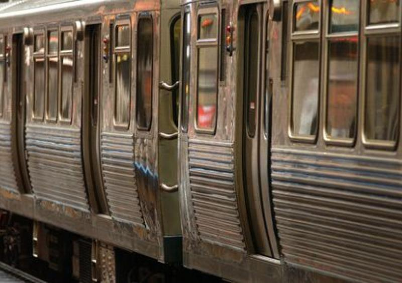 rail transit accident Chicago