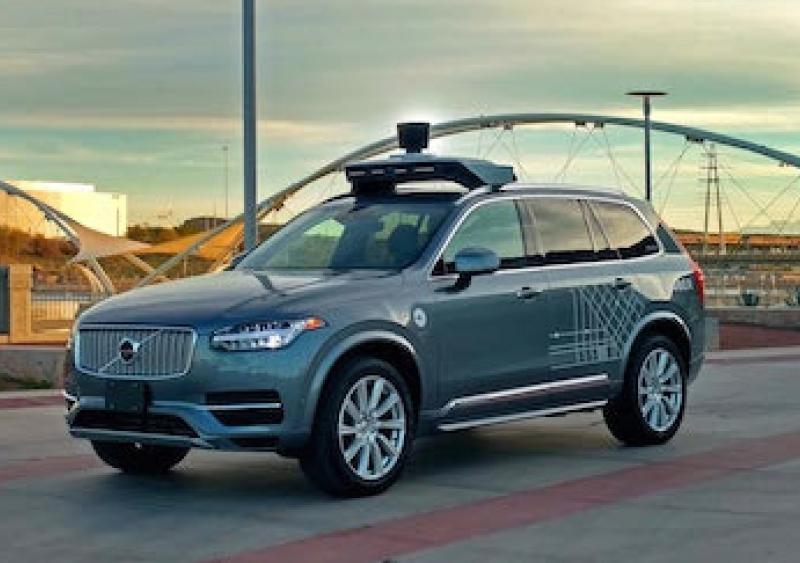 An Uber AV testing in Tempe, Arizona.