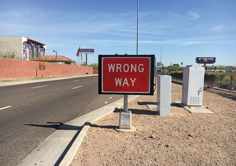 Wrong-way system Arizona DOT
