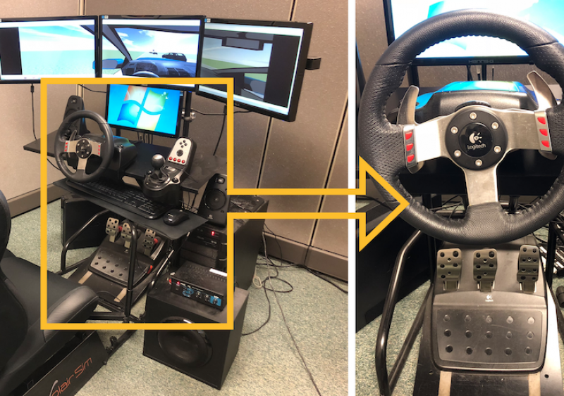Figure 1. Virtual reality based driving simulator