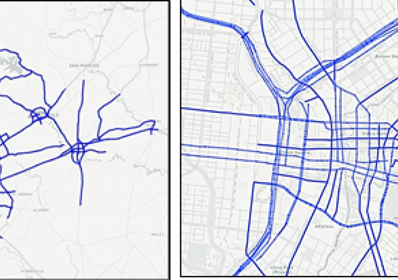 Figure 1. Coverage of traffic message channels (TMCs)