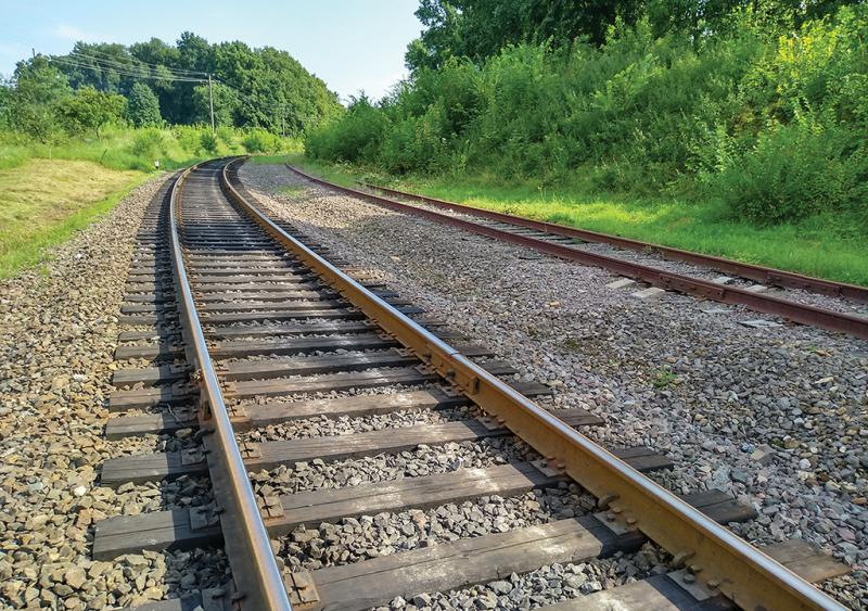 Rails next to trails