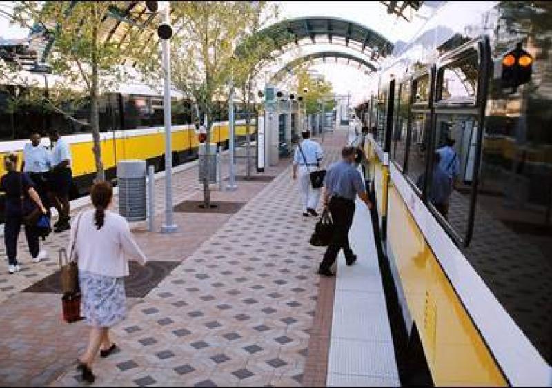Dallas Area Rapid Transit station platform