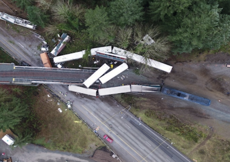 NTSB report Amtrak derailment Tacoma, Washington