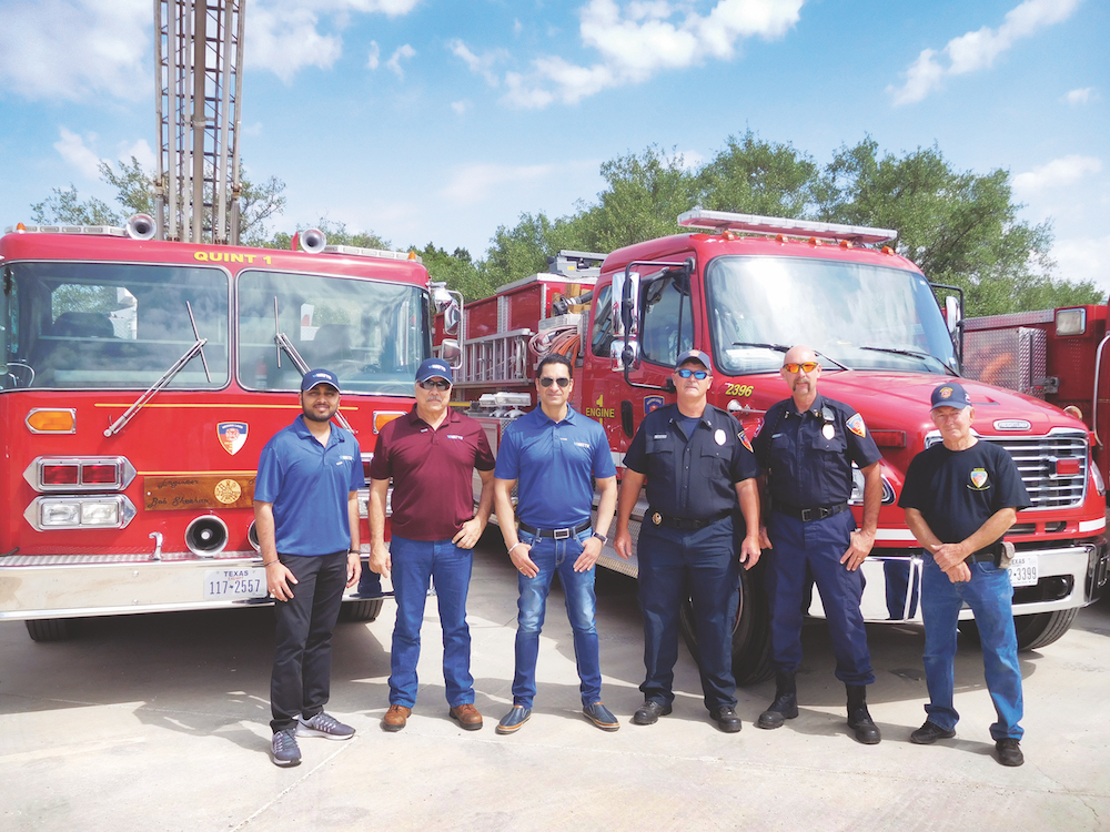 Volunteer fire department receives donated softening system