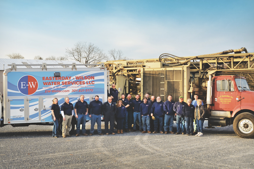 Easterday-Wilson Water Services now has one drill rig and approximately 15 employees, many of whom are related to Franklin Sr., the founder.