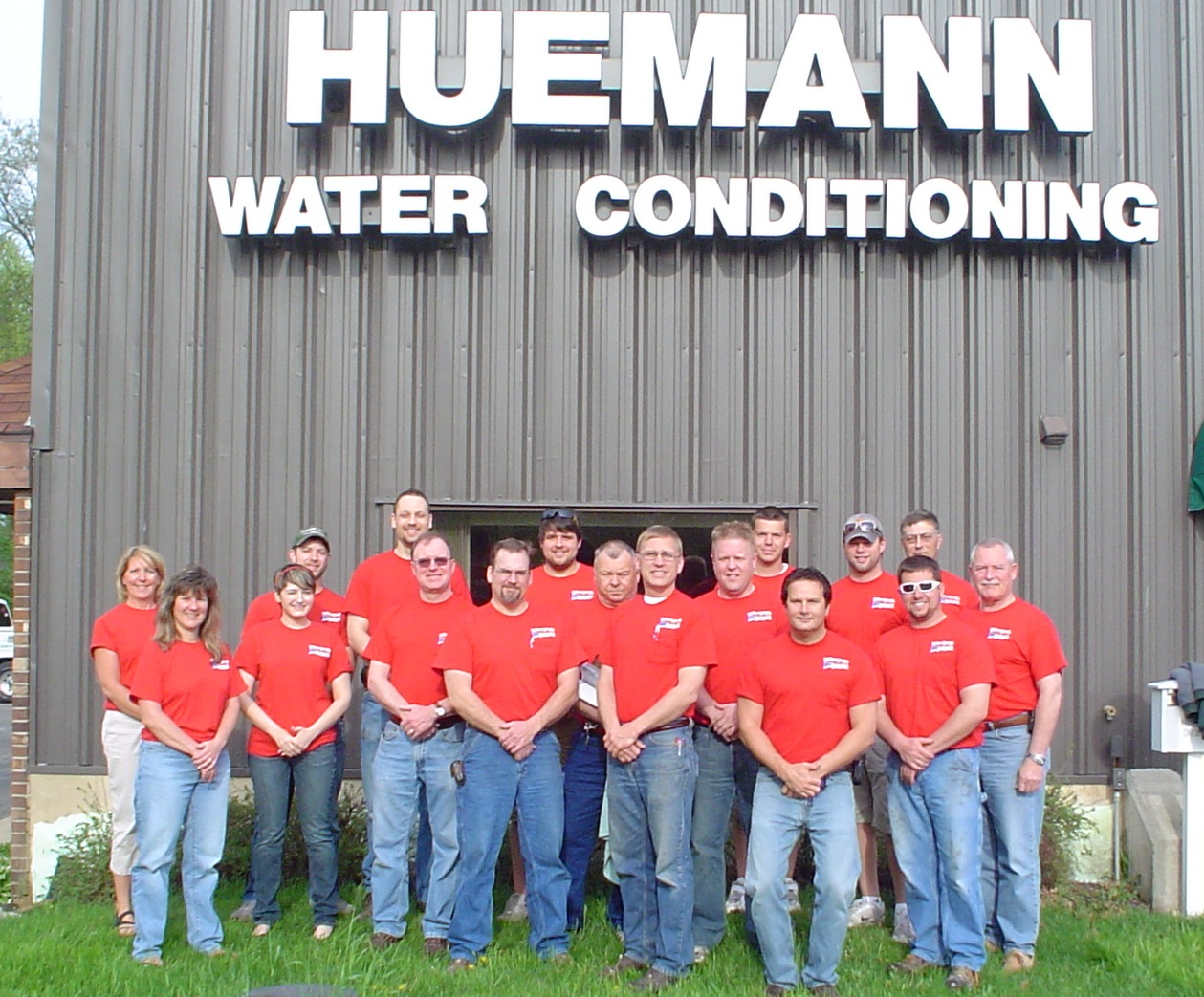 huemann water conditioning red shirt friday