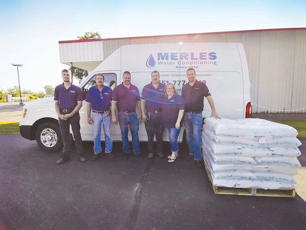Based in St. Paul, Minn., Merle's Water Conditioning now has 12 employees and remains a family business.