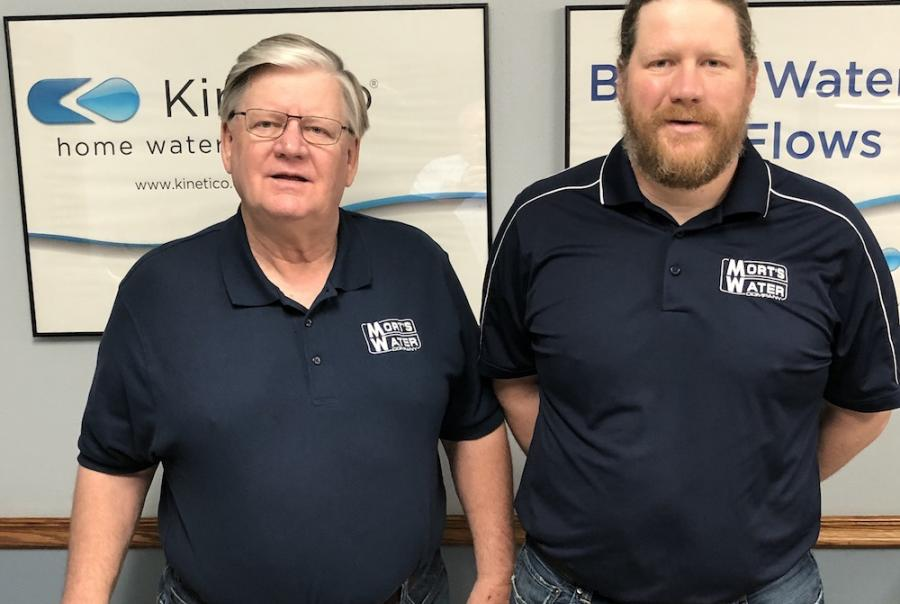 Kent (left) and Brandon Morton are the fourth and fifth generations of the family in the water business.