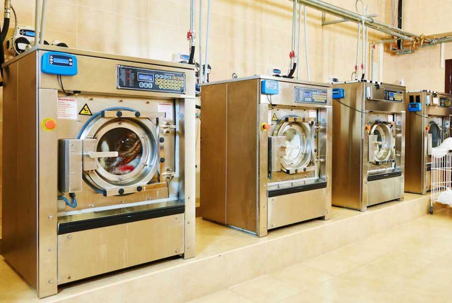 Laundry facility uses electro-desalination technology to reduce water use & save energy
