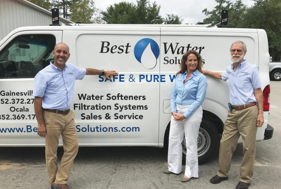 Best Water Solutions employees and service truck