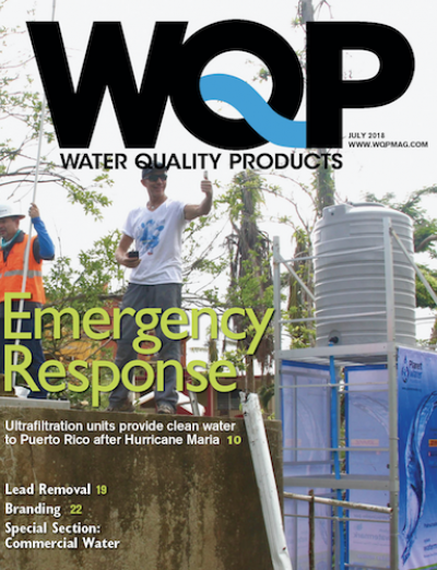 July 2018 issue of Water Quality Products magazine