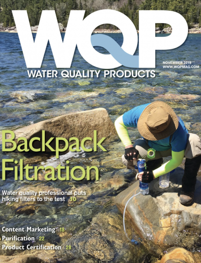 The November issue of Water Quality Products magazine