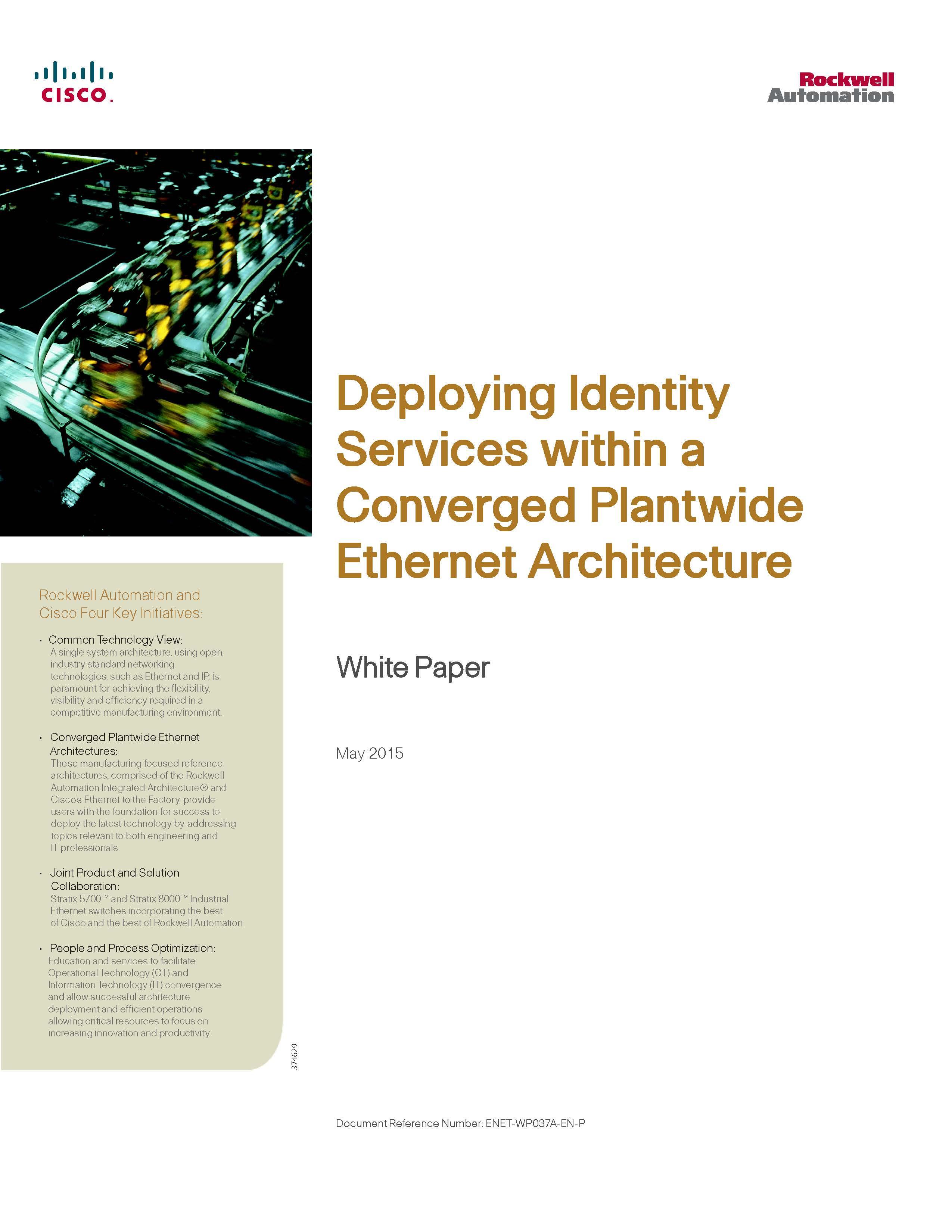 Cisco Rockwell Automatio identity services white paper