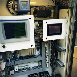 electronic control valve panel setup