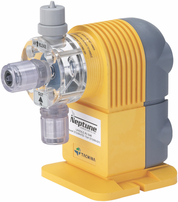 Ensuring a pump can purge  off-gassing with an air vent can help with sodium hypochlorite handling applications.