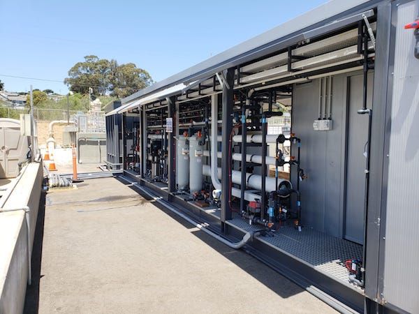 The Central Coast Blue Advanced Water Purification demonstration tests PFRO for wastewater reuse.
