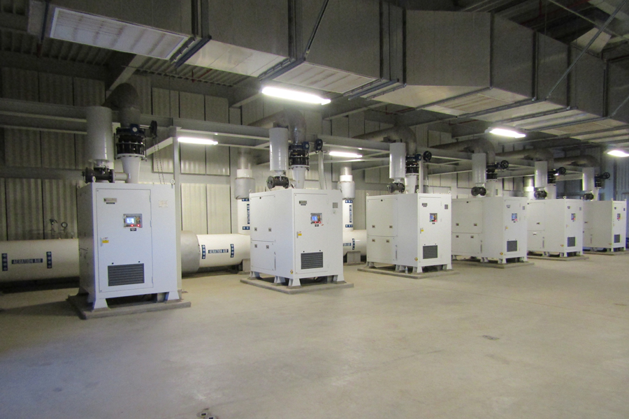 Acoustic panels are specified for new construction of aeration & membrane blower rooms