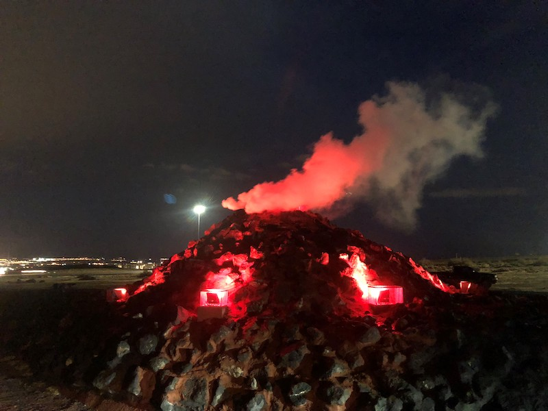 "Flood control authority builds ""volcano"" to solve storm water runoff"