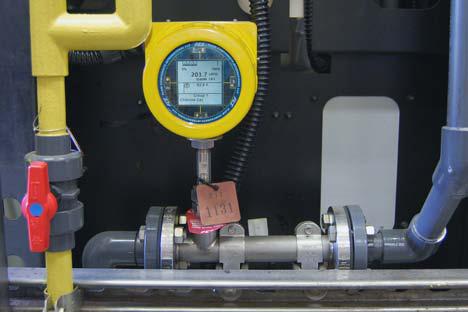 Installed ST100L flowmeter with Vortab flow conditioner