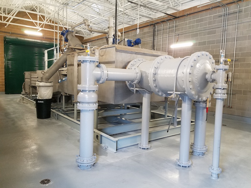 The headworks system installed in Morgan City, Utah, collects and removes grit before it enters the city's lagoons, and operators were surprised when they saw how much grit and garbage was removed before it entered the lagoons.