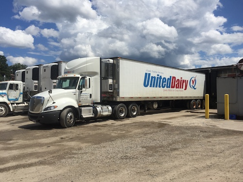 One function of the United Dairy facility is to bottle the milk, which comes from family farms located within 100 miles of the plant.