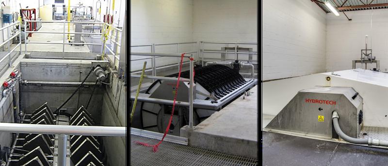 Hydrotech cloth media retrofit progression