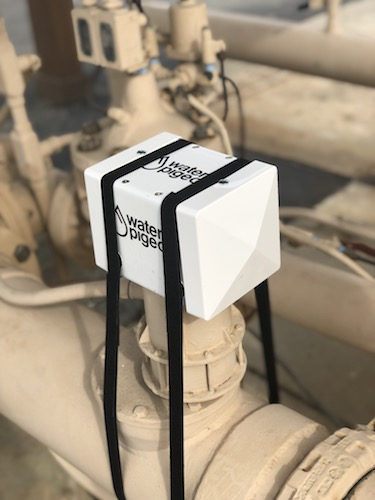 The device can be installed on a flow meter in a pump station.