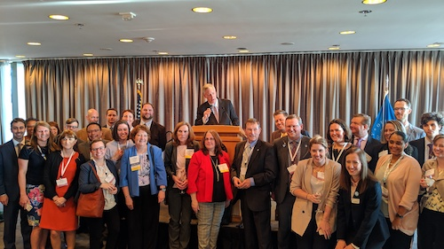 Representatives from associations spanning the water and wastewater industry attended a Congressional Reception at the Library of Congress in Washington, D.C., during Water Week in Washington.