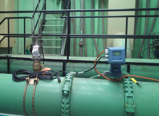 The FPI Mag flowmeter installed in the water treatment plant