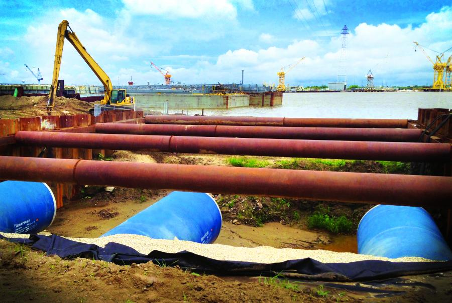 Southeast Louisiana Urban Flood Risk Reduction Project steel pipe New Orleans