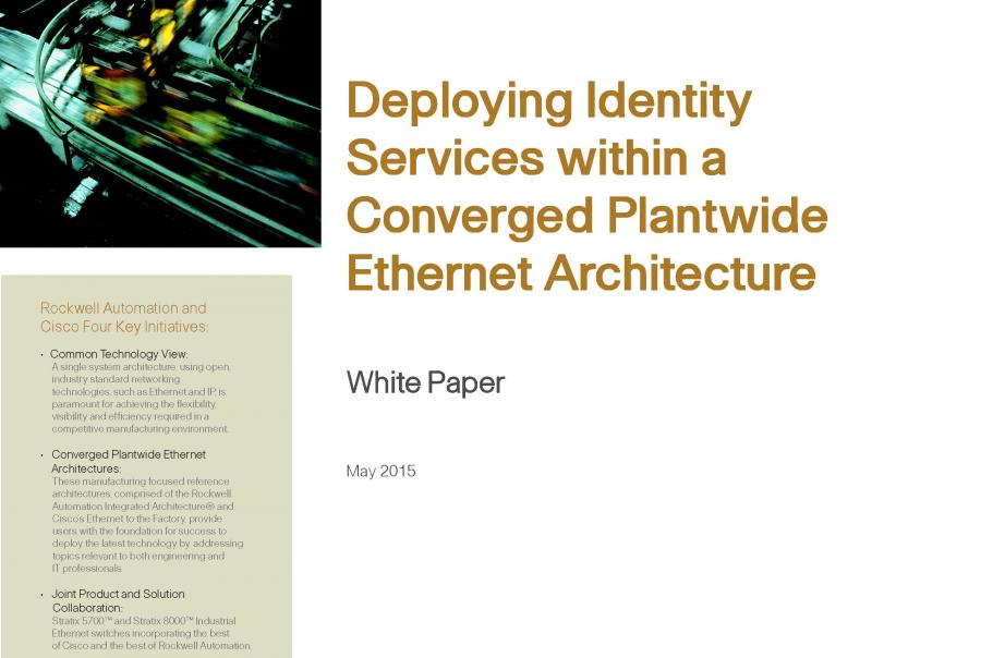 Cisco Rockwell Automatio identity services white paper