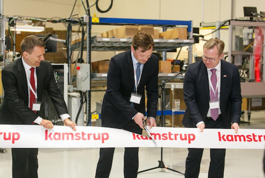 Kamstrup opened a water metering production facility in Roswell, Ga., Feb. 8.