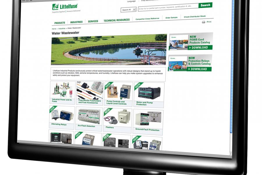 Littelfuse announces new website portal for water/wastewater industry