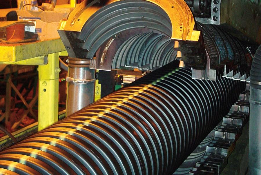 Pipe manufacturing, Advanced Drainage Systems Inc., plant