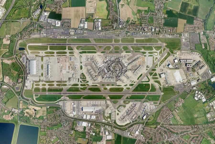 Heathrow airport, London, GE, water treatment, environmental, sustainability