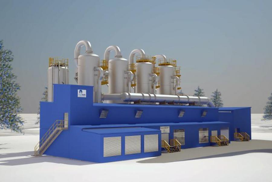Aquatech evaporator hangingstone oil sands alberta