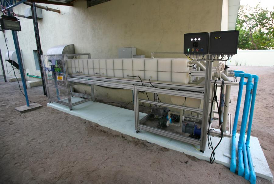 aquiva, desalination facility, maldives, anniversary