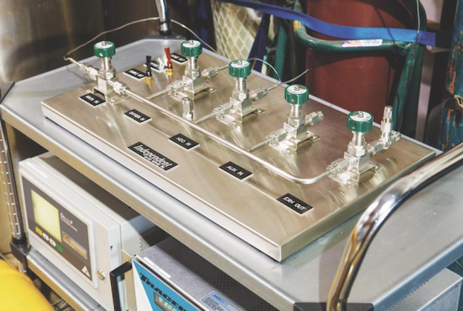 A semiconductor chip manufacturer determined that blending chemicals on-site would be more cost-effective for its operations, so it sought a complete system from a manufacturer.