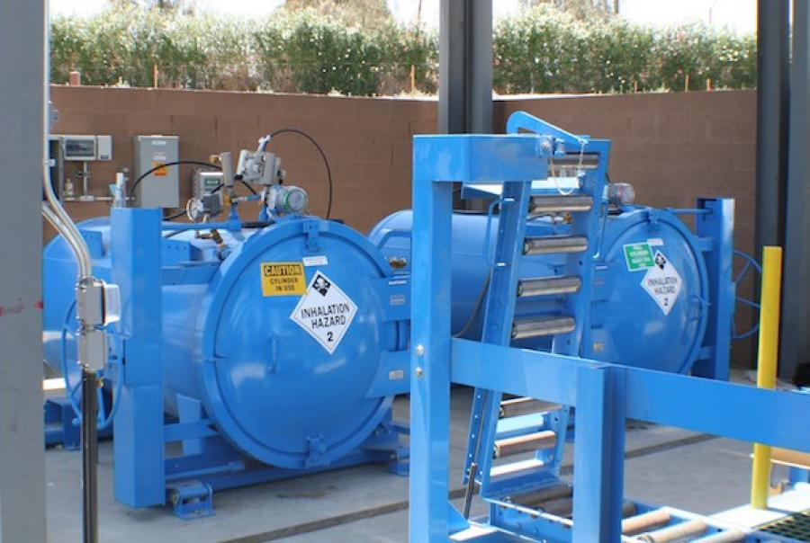 Surface water treatment plant enhances safety with chlorine gas cylinder containment vessels
