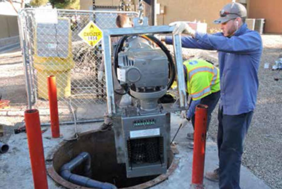 Pump Maintenance Eliminated at Apartment Complex Lift Station