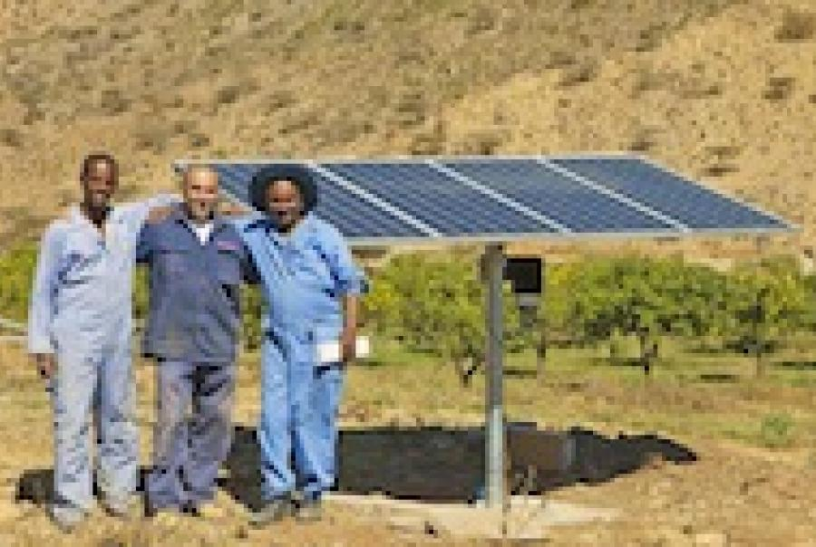 Moyno Sun-Sub solar powered pump irrigation Africa Eritrea