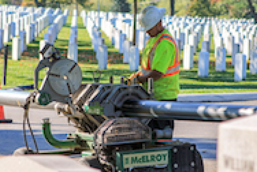 Pre-chlorinated pipe bursting key to Arlington National Cemetery water main replacement program