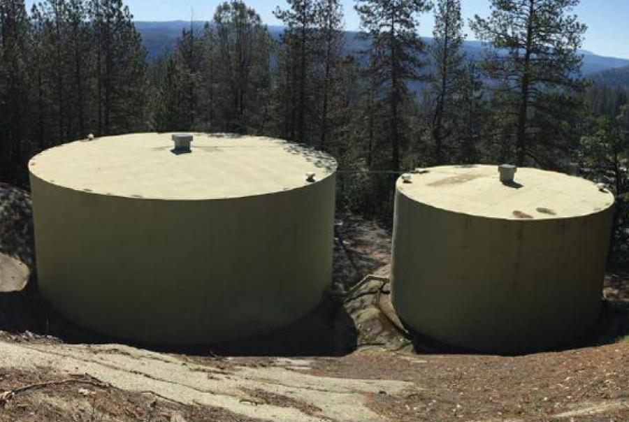 two welded steel tanks