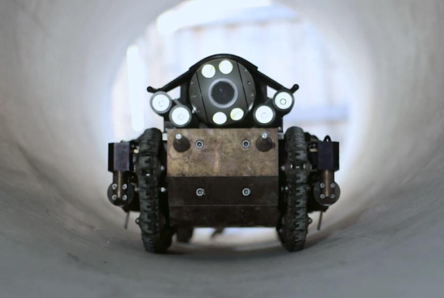 pure technologies, robot, wastewater