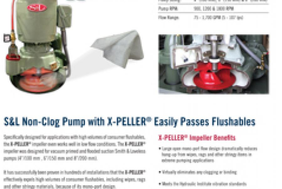 Non-Clog Pump With Impeller