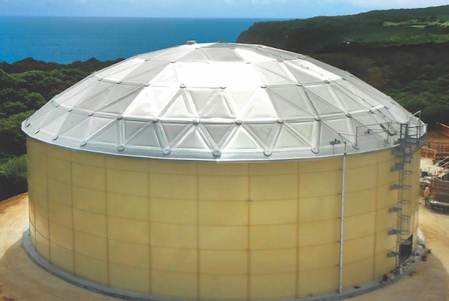 Bolted Tanks Combine Concrete, Steel & Aluminum
