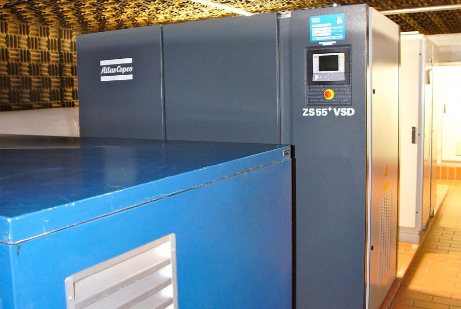 Atlas Copco ZS 55+ VSD oil-free screw blower